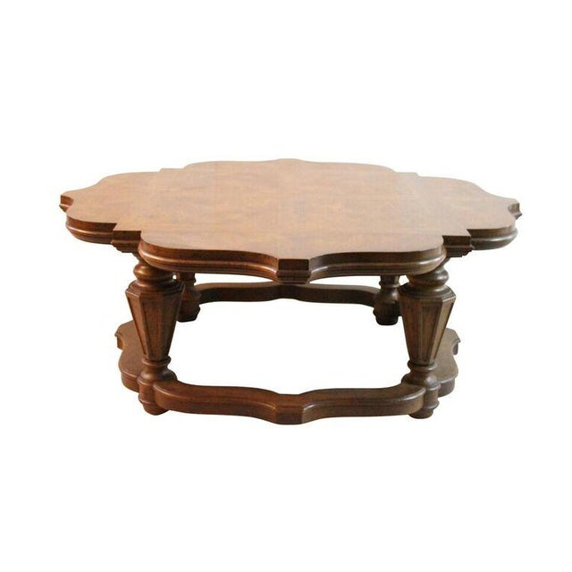 Heritage Scalloped Fruitwood Coffee Table Chairish