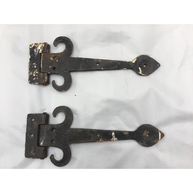 Image of English Cottage Hand Forged Door Hinges - A Pair
