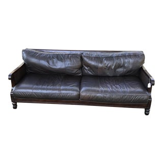 Bernhardt Leather & Cane Sofa