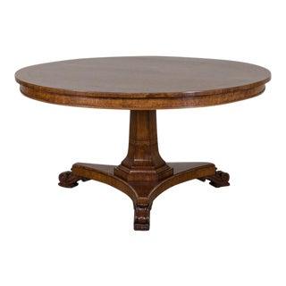 Antique English Pollard Oak and Yew Tilt Top Table circa 1840