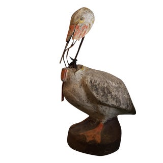 Vintage Pelican Garden Statue