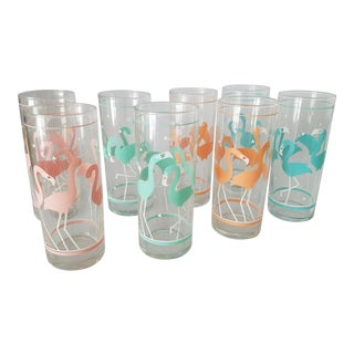 Vintage Flamingo Tumblers - Set of 8
