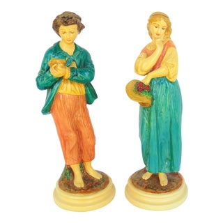 Vintage Borghese Figurines - A Pair
