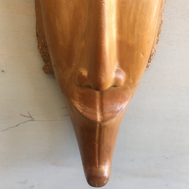 Southeast Asian Hand Carved Tribal Mask - Image 10 of 11