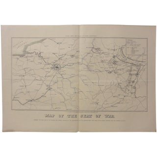 1840 Map of French & German Seat of War
