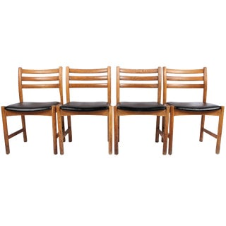 Retro Scandinavian Dining Chairs - Set of 4