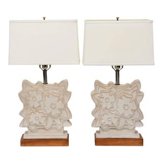 Pair of Italian Modern Ceramic Lamps, Raymor