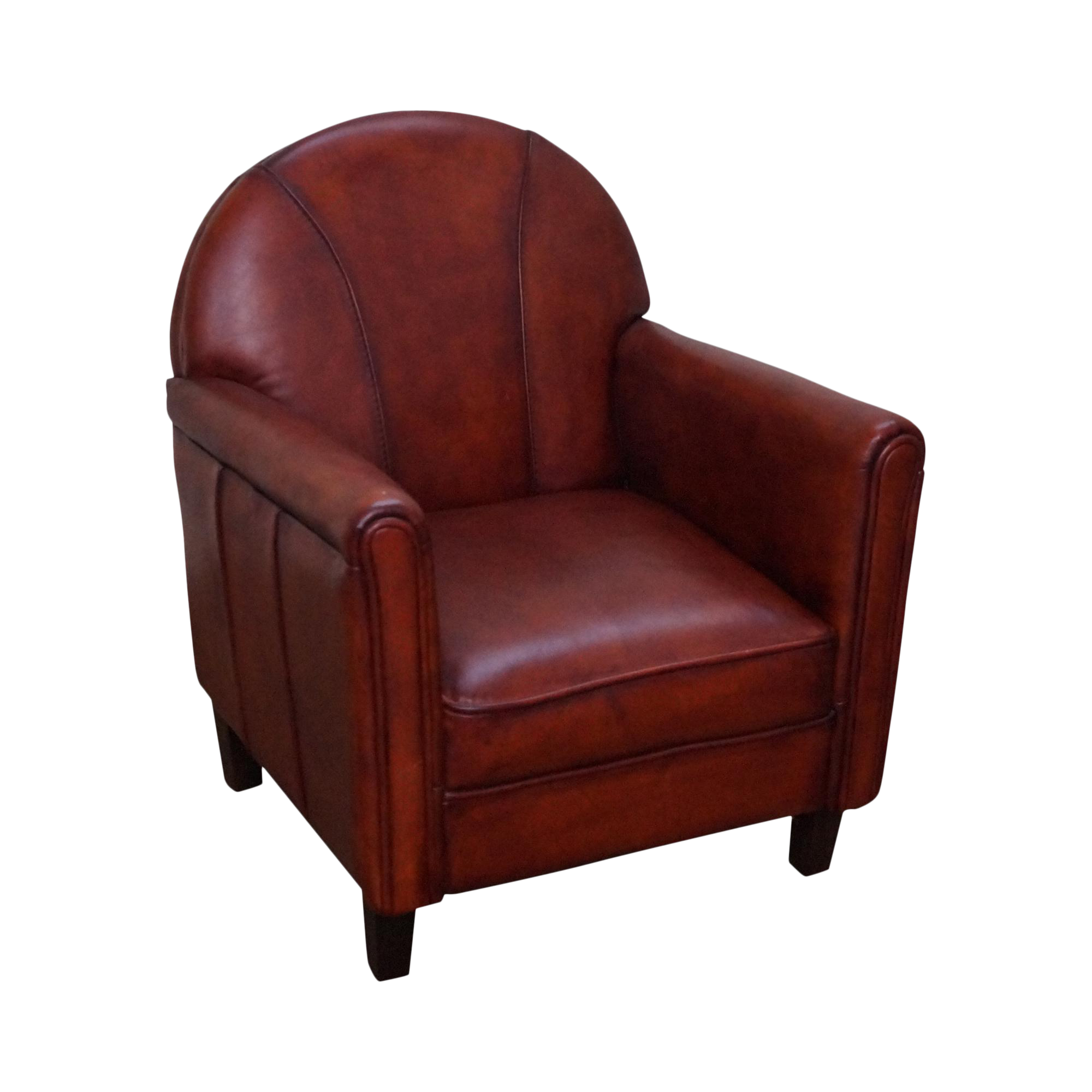 quality french art deco style childs leather club chair - Leather Club Chairs