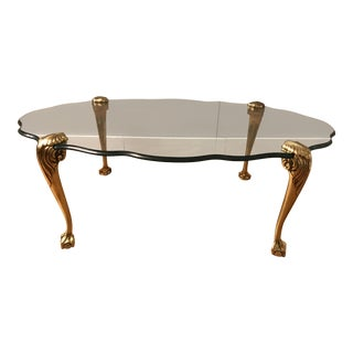 La Barge Louis XV Style Glass Top Coffee Table