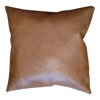 Brown Viynl Pillow