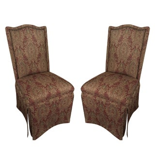 Traditional Upholstered Accent Chairs - A Pair