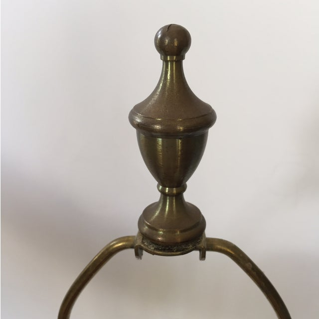 Vintage Brass Urn Lamp With Dragon Faces - Image 8 of 8