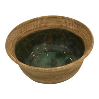 Vintage Studio Pottery Terra Cotta Bowl