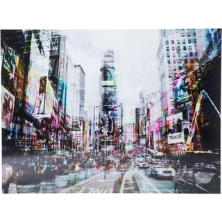 Times Square in Tempered Glass Photograph
