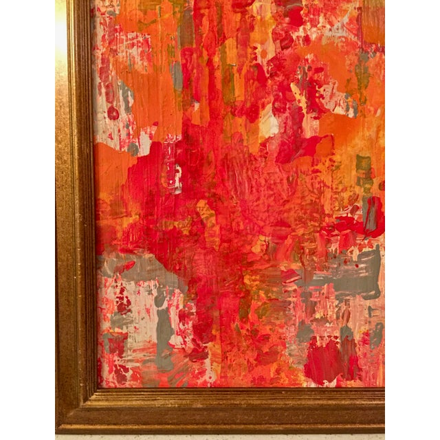 Abstract Red & Orange Painting - Image 5 of 5