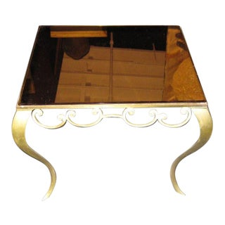 1940s Coffee/Side Table With A Mirror Top, France
