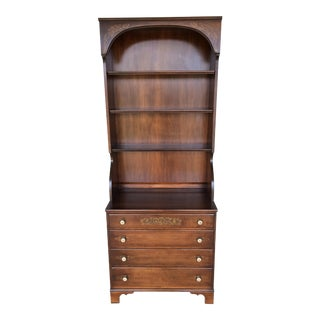 L. Hitchcock Maple Harvest 4-Drawer Chest with Hutch Top
