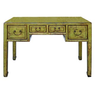 Chinese 4-Drawer Desk in Lime