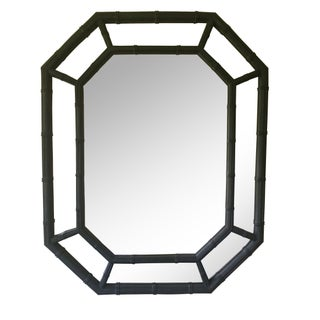 Hollywood Regency Faux Bamboo Mirror