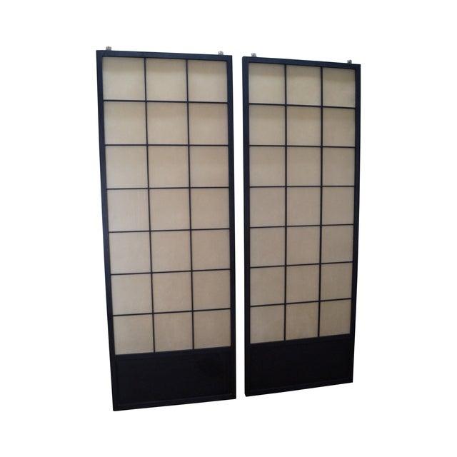 Vintage Japanese Shoji Sliding Doors - A Pair - Image 1 of 10