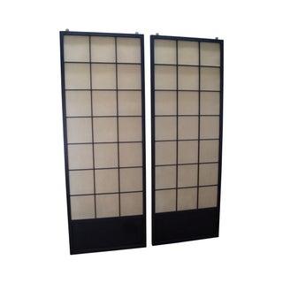 Vintage Japanese Shoji Sliding Doors - A Pair