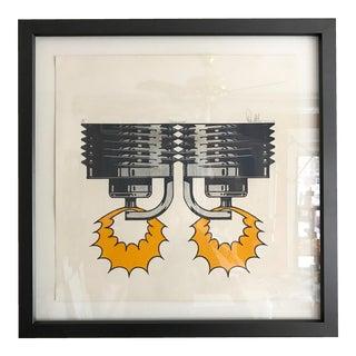 1971 Sparkplug Pop Art Silkscreen Signed & Numbered