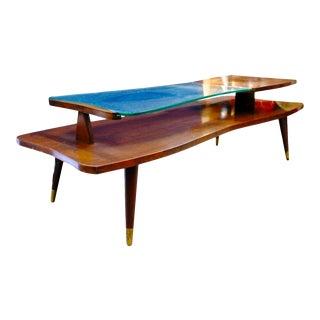 Mid-Century 2-Tier Coffee Table