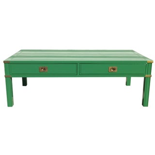 Vintage Campaign-Style Lacquered Coffee Table