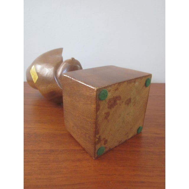 Alii Tiki Modernist Abstract Carved Wood Sculpture - Image 5 of 11