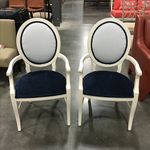 Century Frame Accent Chairs - Pair - Image 2 of 5