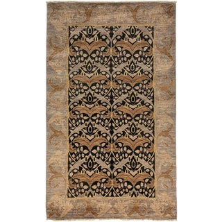 "Arts & Crafts Hand Knotted Wool Area Rug - 4' 10"" X 7' 10"""