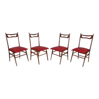 Mid-Century Modern Italian Dining Chairs - Set of 4