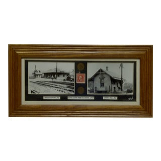 "1917 ""Long Gone Pennsylvania Railroad Stations"" Multi-Media Collage"