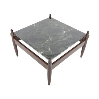 Stained Oak & Marble Side Table / Coffee Table