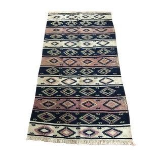 Anatolian Embroidered Kilim Rug Runner - 3′1″ × 4′11″