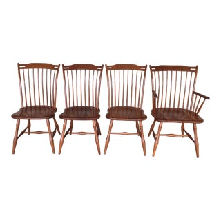 Cherry Arrow Back Windsor Chairs - Set of 4