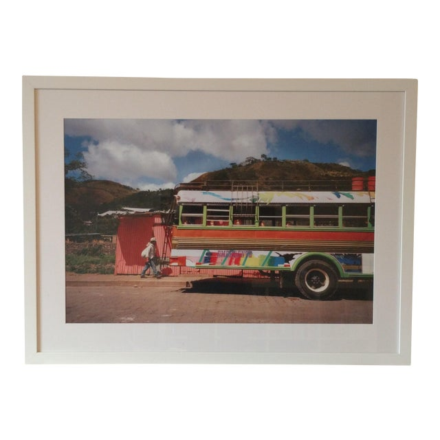 Framed Nicaraguan Painted Bus Photograph - Image 1 of 4