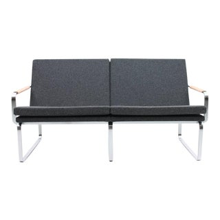 Rare Charcoal Gray Sofa and Chair Set by J.Lund & O. Larsen for Bo-Ex BO-911