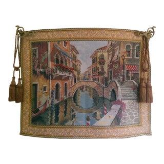 """Venice's """"Le Pont Des Amoureus"""" Tapestry"""