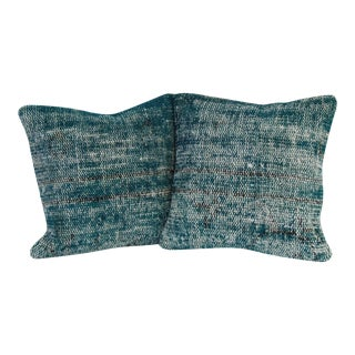 Green Vintage Handmade Overdyed Pillow Covers - Pair