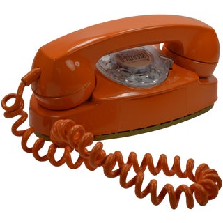 Professionally Painted Orange Princess Phone SALE!