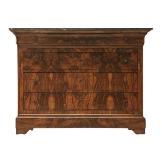 French Burled Walnut Commode