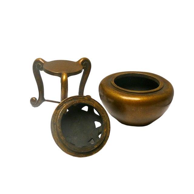 Oriental Chinese Handmade Fine Bronze Incense Burn - Image 2 of 4