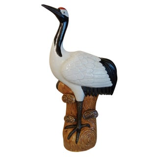 Early 20th-C. Chinese Porcelain Crane