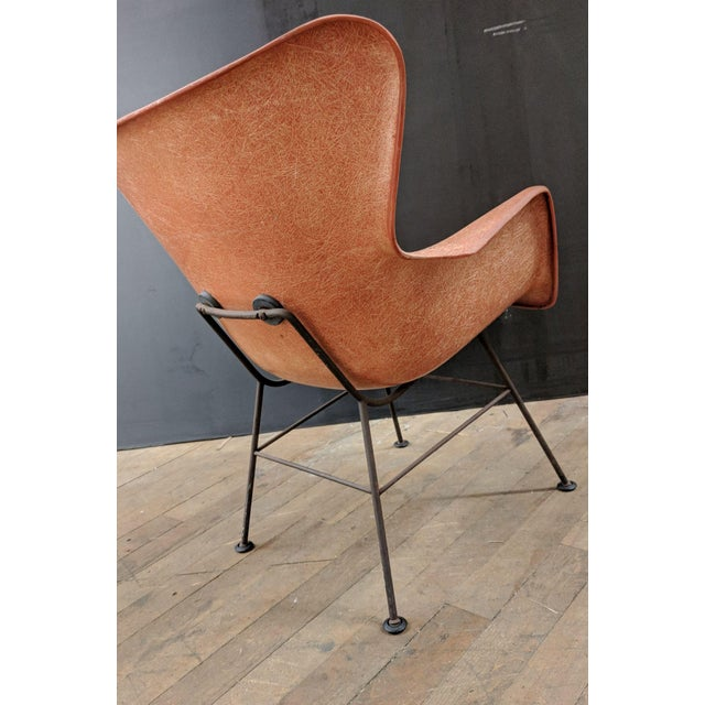 Lawrence Peabody for Selig Mid-Century Wingback Fiberglass Chair - Image 6 of 11