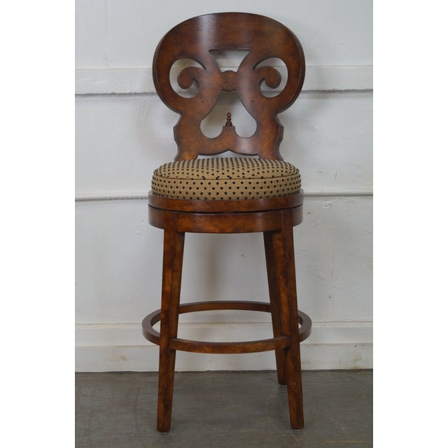 Biedermeier Style Swivel Bar Stools - A Pair - Image 7 of 10