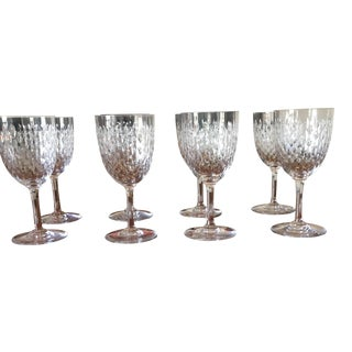Traditional Baccarat Crystal Disco Glasses - Set of 8