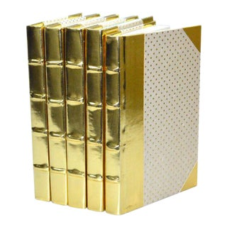 Metallic Collection Brass Books - Set of 5
