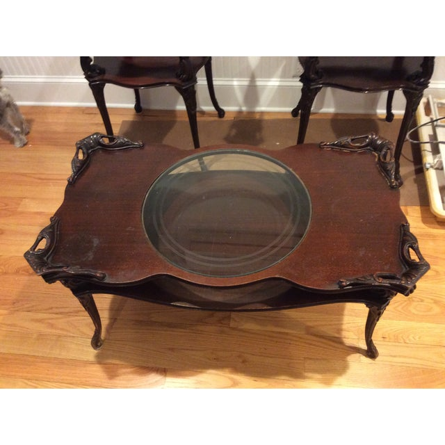 """Chippendale """"Looking Glass"""" Coffee Table - Image 3 of 4"""