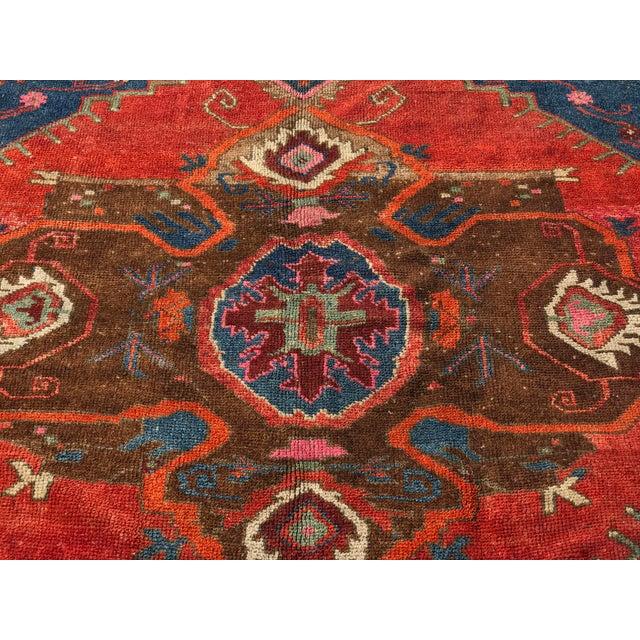"""Antique Turkish Oushak Square Rug - 5'6"""" x 5'7"""" - Image 3 of 11"""